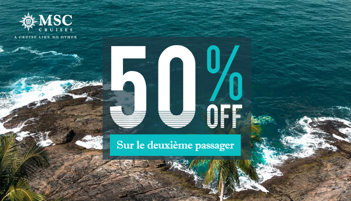 SPECIAL -50% 2nd PAX by MSC