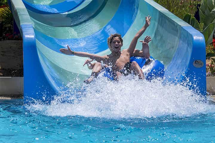 Rafting slide