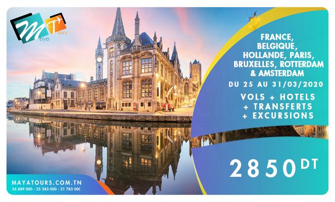 paris bruxelles amsterdam 25-31/03/2020